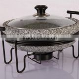 Granite stone steam cooker pot with frame non-stick cookware set