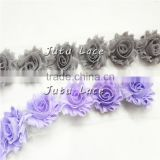mini 1.5'' shabby flower, NEW shabby chic Baby Headbands Boutique flower +girls elastic hair bands for kids