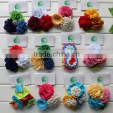 Velvet Felt hair flowers, felt flowers for headbands