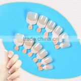 Hot sale french manicure nail art tips 12 pcs eco-freindly artificial fingernails designated nail tips
