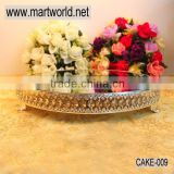 18 inch big cake stand for wedding cake; factory price crystal cake stand wedding decoration(cake-009)                                                                         Quality Choice