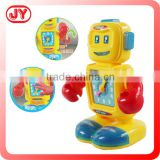 2015 hot sale B/O robot toy W clock light&music