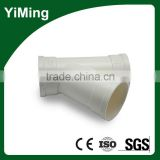 YiMing PVC 45 Degree Y Branch Pipe Fitting Lateral Tee