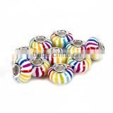 Hot Selling Fimo/Soft Clay Polymer 10 pcs Rainbow Color Style #2 Color Glass Beads Loose Beads