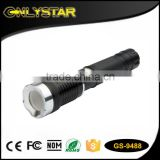Onlystar GS-9488 3w hight power wholesale cre r3 aluminum alloy rechargeable & magnetic outdoor survival flashlight