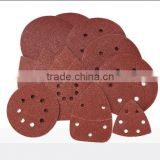 NO:SA28035 125mm hook and loop fastener sanding disc with holes for wood and metal polishing