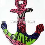 Heat Iron Transfer Colorful Sequins ANCHOR Patch Applique for Sewing,Crafts, Embellishments/Rhinestone Sequin Appliques