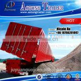 Best sale 2-3 axles 30-60 tons heavy duty cargo side/rear tipping trailer dump trailer truck for sale