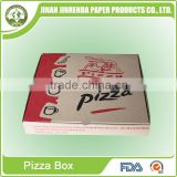 Corrugated Paper 9 inch pizza delivery box for scooter or motobike