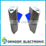 wholesale stainless steel half height counter turnstile flap barrier for traffic control
