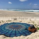 wholesale 100% cotton luxury velour for australia large circle custom colorful printed round beach towel