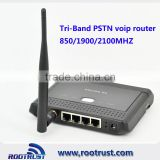 Tri-band HSUPA 850/1900/2100MHZ 3G PSTN Phone router with sim card slot