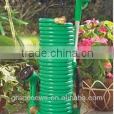 Coiled Garden Hose with Stand