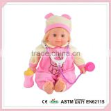 Good Baby Child Products With Bottle Plastic Vinyl Lovely Child Model Baby Doll