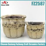 Pottery,small ceramic pot, planter pottery for home or garden in Chaozhou