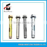 plastic Galvanized nylon flange nut sleeve anchor