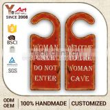 Low Price fancy iron hanging door signs hanger notepad