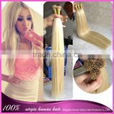 Hot Selling Natural Virgin Remy Hair Extensions #613 color I Tip Brazilian Human Pre-bonded Hair