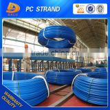 unbonded prestressed strands coil wire / pc steel strand wire reinforced concrete structure