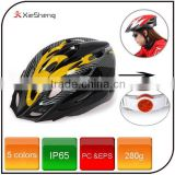 Hot Sale 5 Color Sport Cycling Accessories Safety Bike Bicycle Helmet Cover with Led Rear Light