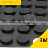12.4*4mm Cylinder Self Adhesive Transparent Anti Slip Bumpers Silicone Rubber Feet Pads High Sticky Shock Absorber