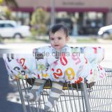 Baby cart cover cotton print cover car cushion stoller cushion made in china baby shopping cart cover highchair cover