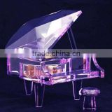 new design purple classical souvenir crystal piano music box