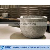 Marble Stone Round Shallow Bathtubs for Children                                                                         Quality Choice