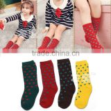 WZ6001 New born baby winter dot anti slip tube socks kids winter casual indoor socks 2015