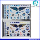 New Design Bule Gold Silver Tattoo Metalic Tattoos Temporary Change Color Tattoos Stickers Flash Tattoo