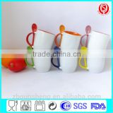 China Factory 11oz Ceramic Mug with Spoon,Coffee Mug with Spoon/customized ceramic coffee Mug with Spoon