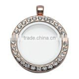 30*20.5mm Rose Gold Plating Crystal, Rhinestone Main Stone And Women's Gender Lockets Wholesale