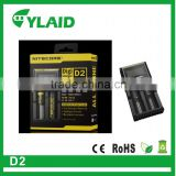Buy the Original Nitecore D2 rechargeable lithium-ion battery charger AC100-240 auto battery charger