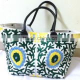 Latest trendy fashionable Suzani Embroidery Bag Tote Shoppers bag beach bag traveller bag