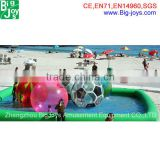 Large clear squishy water ball grow in inflatable water rolling balls for kids and adults