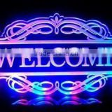 Multi Color Acrylic LED Welcome Signs Lamp Night Light Beer Bar Pub Business Decor