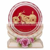 crystal paper weight inside motorcycle design selling in cheap price