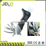 Ningbo JELO LCD Multi-Function Life Hammer Tire Pressure test Army Knife LED Torch Auto Accessories