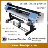 1.9 meter new condition and automatic grade eco solvent digital printer for indoor outdoor poster
