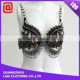 DS011 new design sexy carnival party sequin dance costume, dance performance bra & hip belt ballroom costume