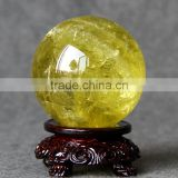 Hot sale nature crystal wonderful citrine quartz sphere/ball for decoration