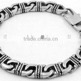 Novelty vintage punk style 316 L stainless steel chain bracelet