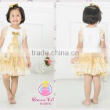 2016 New arrival baby cotton top designs birthday party dress for girls,special design wedding lace baby girl tutu dress