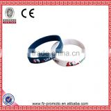 Silicone Rubber Wristbands Bangles with High Quality Custom Debossed with Soft Enamel Silicone Wristband