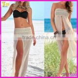 New 2015 Fashion Women Sexy Summer Dress Mesh Beach Wrap Cover Up Beachwear Dress Beach Skirt Wholesale
