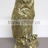 Brass Owl Figures, Brass Animal Statues, Figures
