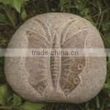 Granite stone sculpture butterfly