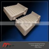 Plastic white show stand by vacuum forming