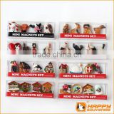 2014 France souvenir fridge magnets miniature birds and cuckoo house custom 3D promotional item