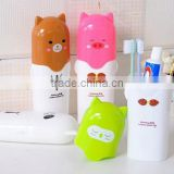 wholesale portable cartoon travel toothbrush case toothbrush box toothpaste box mouthwash bottle